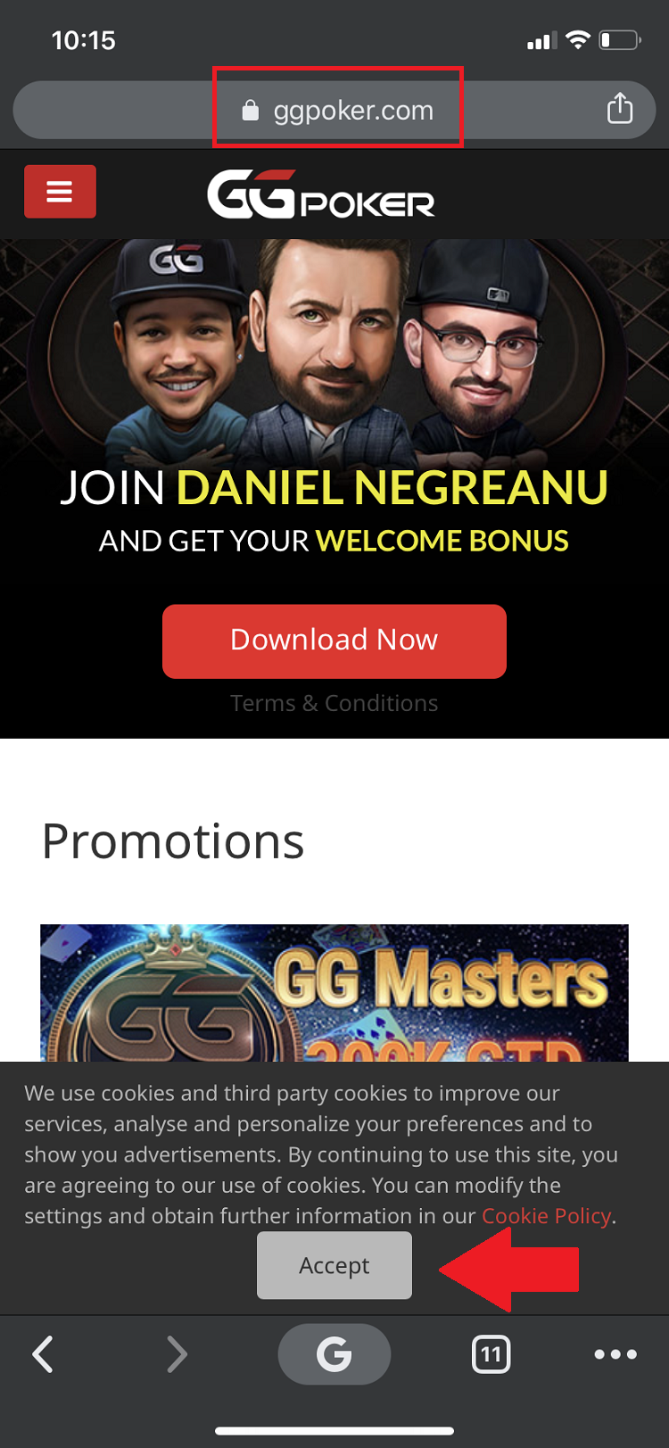 GGPoker on iOS