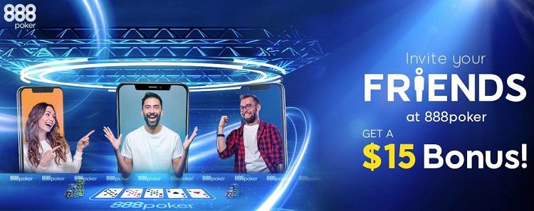 888poker convide um amigo