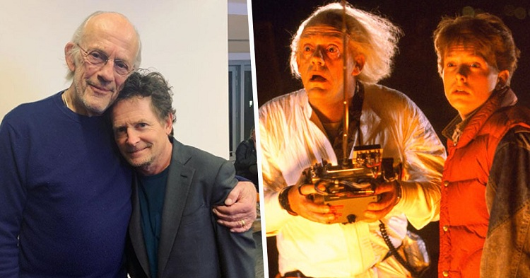 """The stars of """"Back to the Future"""" movie"""
