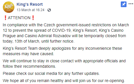King's Casino facebook