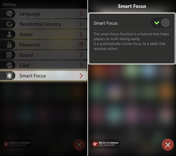 Smart Focus feature