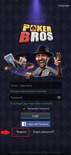 PokerBros registration