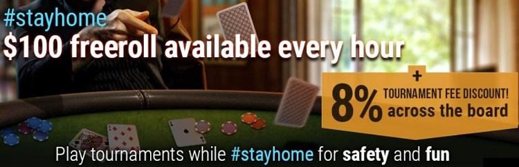 StayHome freerolls at GGpoker