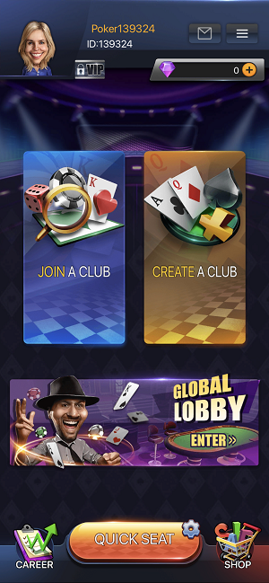 PokerBros how to create a new club