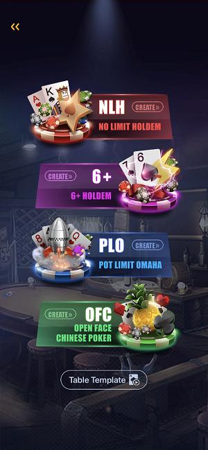 Tables at PokerBros