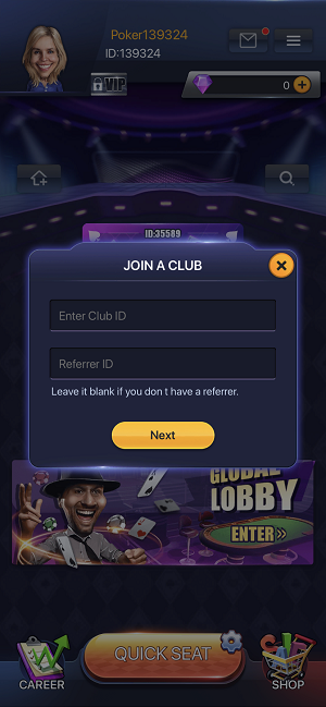 PokerBros club ID
