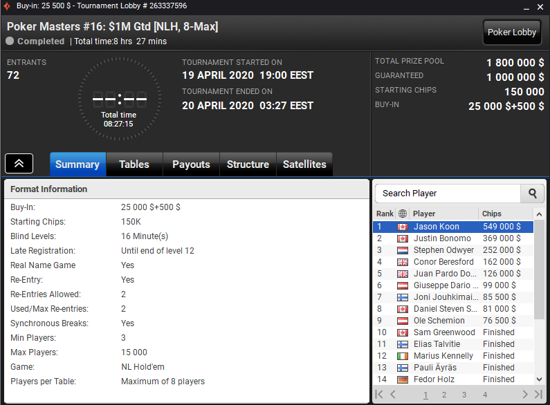Poker Masters#16