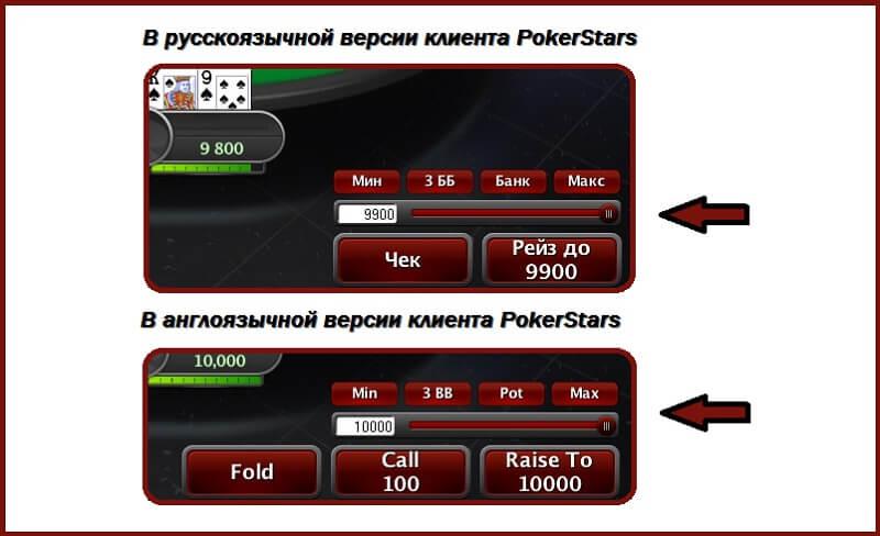 Олл-ин на ПокерСтарс