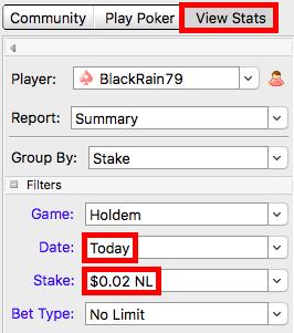 Настроить параметры PokerTracker