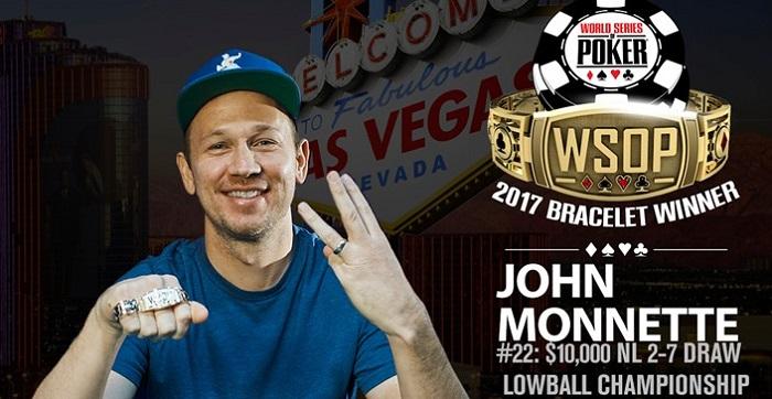 Джон Моннетт выиграл WSOP Event #22 2-7 Draw Lowball Championship за 10 000$