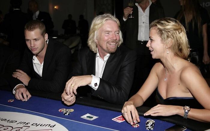 Ричард Брэнсон покер