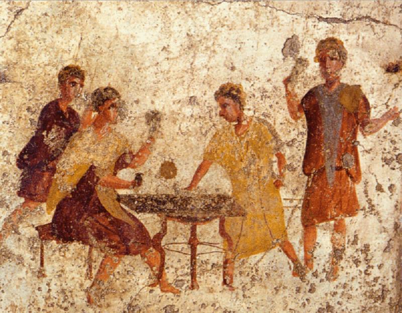 римляне играют в кости