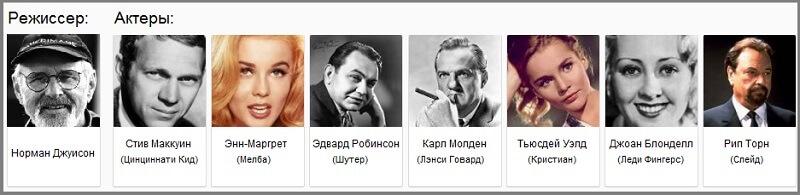 актёры Цинциннати Кид