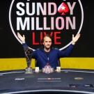 Российский игрок на финальном столе Sunday Million Live