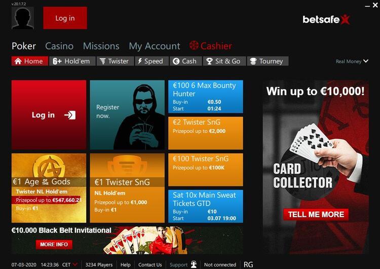 Betsafe Poker лобі