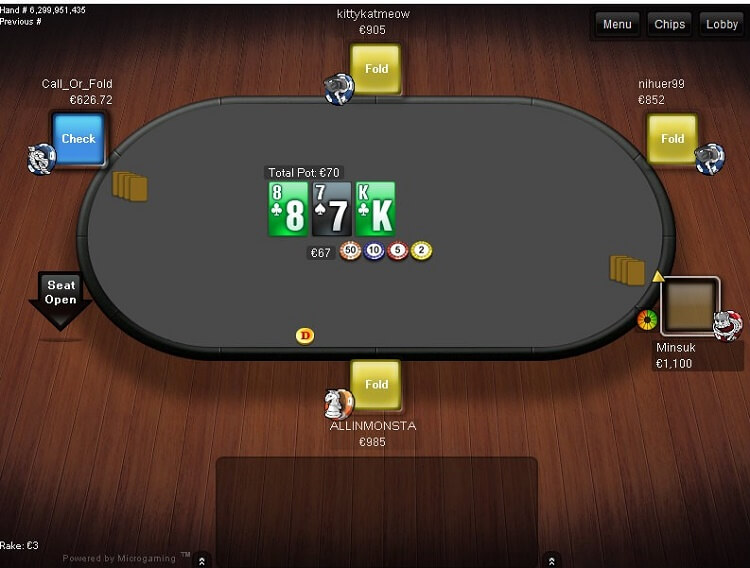 Betsson Poker table
