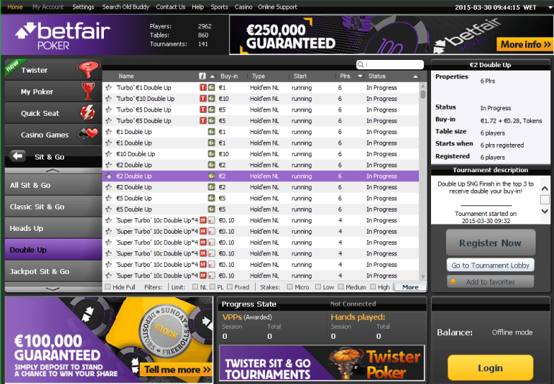 Betfair games
