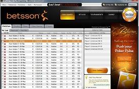 Betsson Poker screenshot