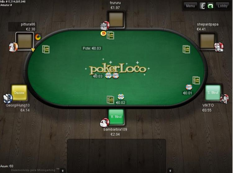 PokerLoco table