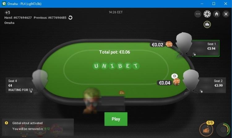 Unibet Poker стол