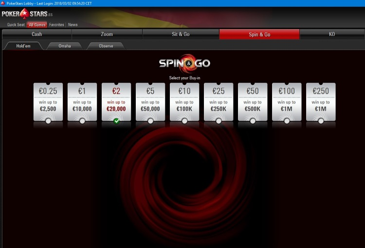 PokerStars.es Spin&Go