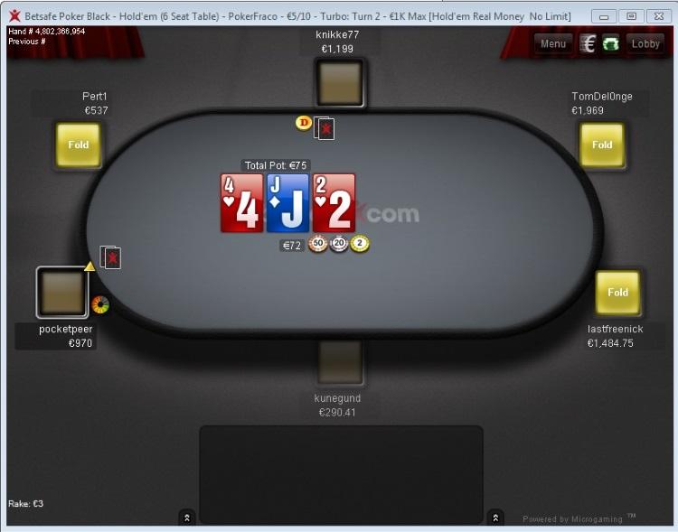 Betsafe Poker стол