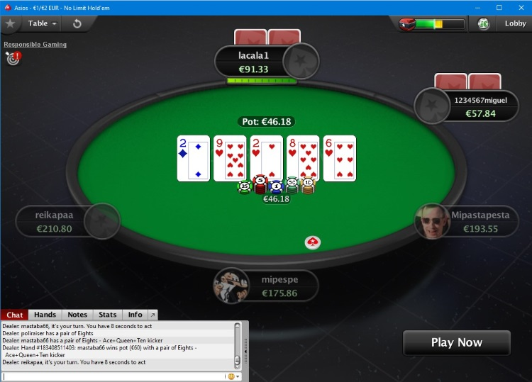 Pokerstars.es game table