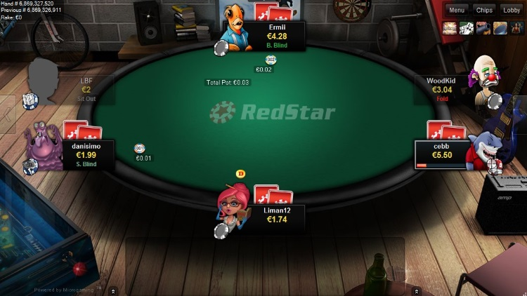 RedStar Poker table