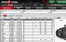 Скриншот PokerStars NJ
