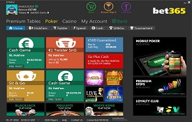 Bet365 Poker screenshot