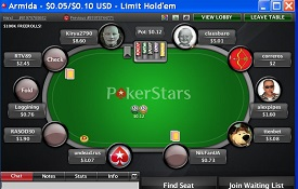 Скриншот PokerStars.eu