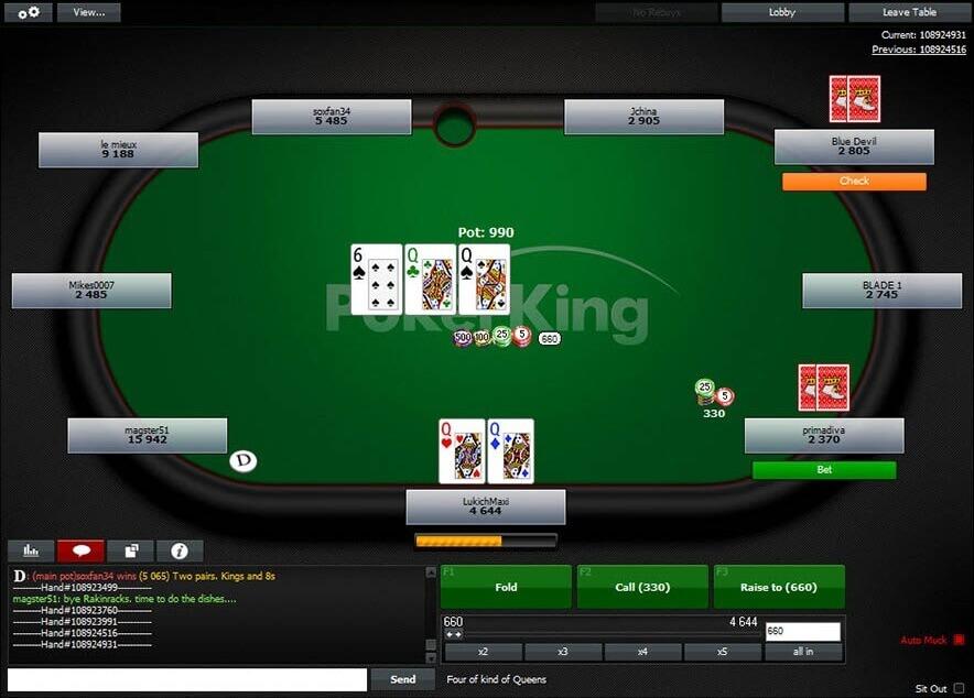PokerKing table