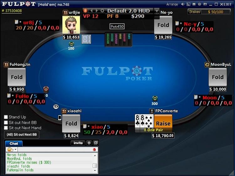 Fulpot Poker table