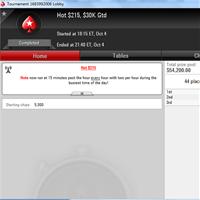 Normanolly выиграл Hot 215$ на PokerStars, дважды имея всего 1 большой блайнд