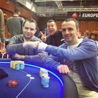 Константин Маслак и Михаил Сёмин в хедз-апе на ЕПТ Прага
