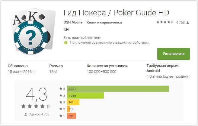 покерное приложение
