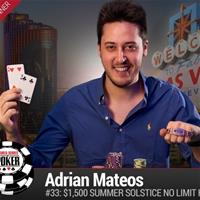 21-летний Адриан Матеос выиграл турнир WSOP