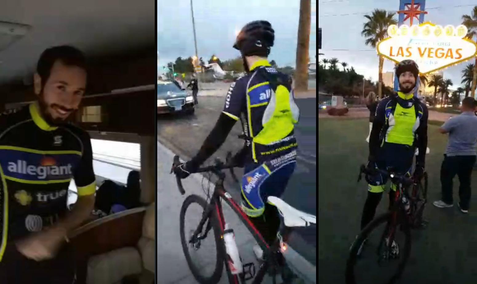 Брайан Раст, велосипедное пари