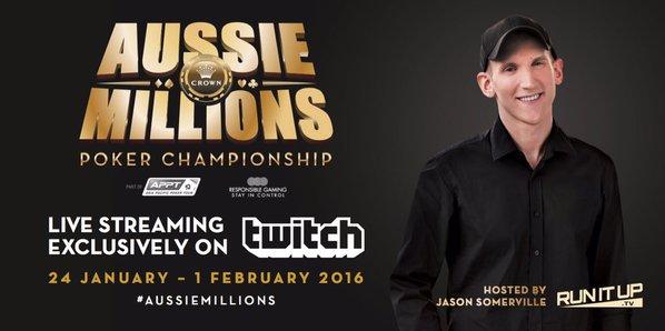 Онлайн-трансляции Aussie Millions стартуют уже в это воскресенье