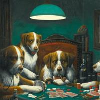 Картину с собаками-покеристами продали за $650 000