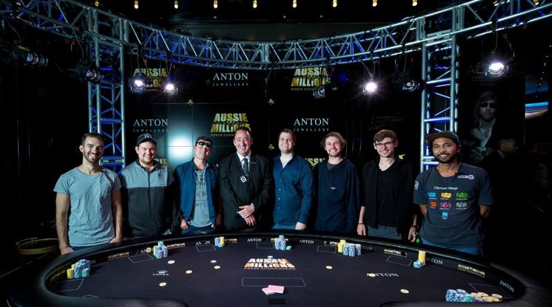 Видеозапись финального стола Aussie Millions Main Event